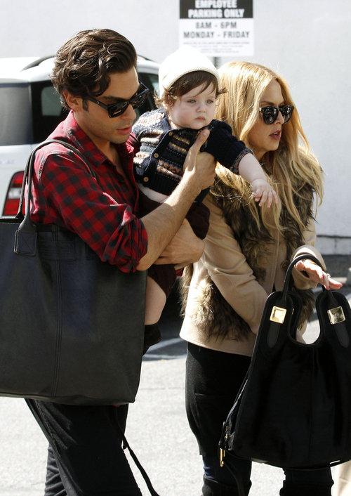 74703, WEST HOLLYWOOD, CALIFORNIA - Tuesday March 13, 2012. Rachel Zoe has lunch at Hugo's Restaurant with her husband Rodger Berman and their son Skyler Morrison. Rachel gave Rodger a kiss goodbye and handed him Skyler before taking off. Photograph: © Survivor, PacificCoastNews.com **FEE MUST BE AGREED PRIOR TO USAGE** **E-TABLET/IPAD & MOBILE PHONE APP PUBLISHING REQUIRES ADDITIONAL FEES**æLOS ANGELES OFFICE:1 310 822 0419ææLONDON OFFICE:+44 208 090 4079